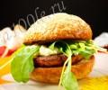 Рецепт гамбургера с сёмгой