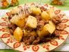 Жареные куриные желудки с картофелем