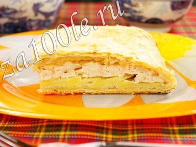 Рецепт пирога с куриной грудкой и картофилем