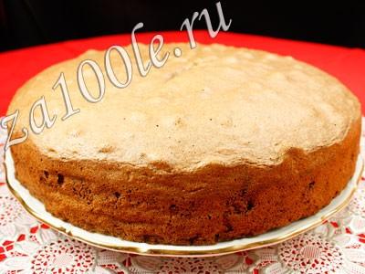 Рецепт приготовления шоколадного бисквита