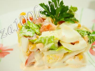 Рецепт приготовления крабового салата