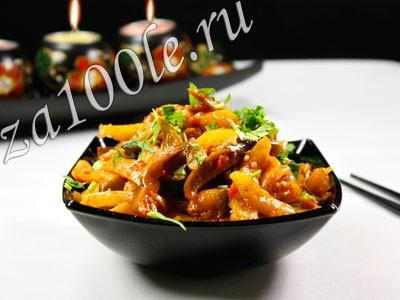 Рецепт жареных баклажан
