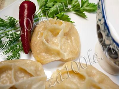Рецепт мантов из тыквы