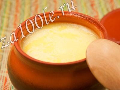 Рецепт приготовления топленого масла