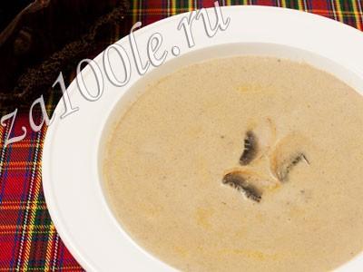 Рецепт приготовления грибного супа - пюре