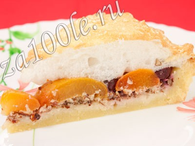 Рецепт пирога с абрикосами и вишней