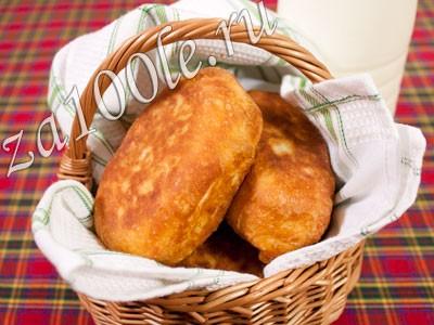 Рецепт жареных пирожков с капустой.