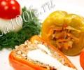 Рецепт Перца фаршированного мясом и грибами