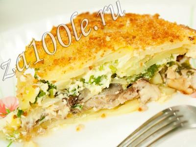 Рецепт картофельной запеканки с селедкой.