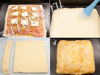 Пирог с куриной грудкой и картофелем