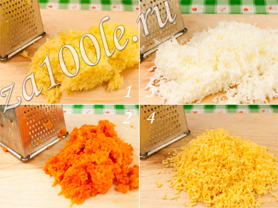 салат мимоза с картошкой и морковью рецепт с фото